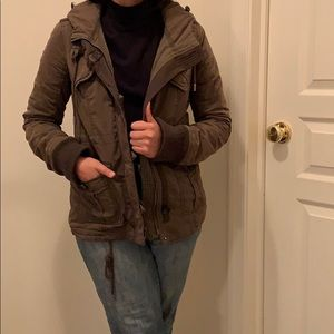 Abercrombie & Fitch Forest Green Military Jacket